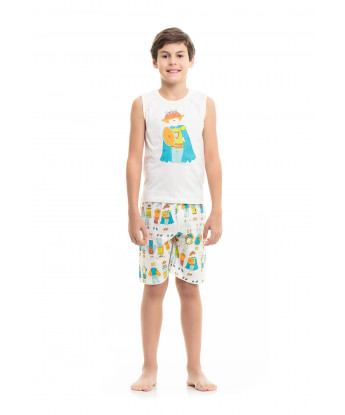 PIJAMA REGATA MACHÃO E SHORT