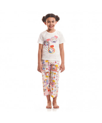 Pijama manga curta e corsário