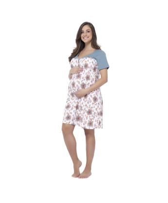 Homewear camisola gestante manga curta