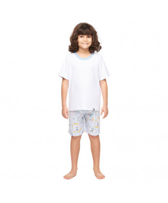 Pijama manga curta e bermuda