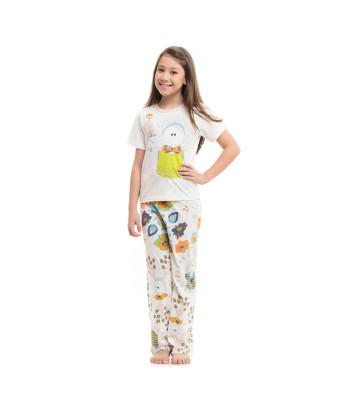 Pijama Manga Curta e Calça