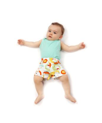Pijama body cavado e short