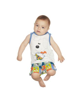 Pijama pagão cavado e short