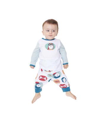 Pijama body manga longa e mijão